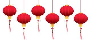 Lanternas de suspensão chinesas do vetor ilustração do vetor