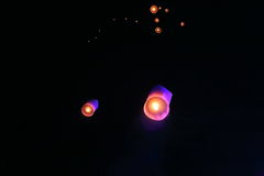 Lanternas do céu Imagens de Stock