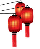 Lanternas do vermelho do chinês tradicional Foto de Stock Royalty Free