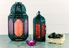 Lanternas e datas Fotografia de Stock