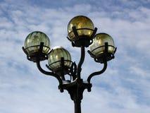 Lanternas e o céu Imagens de Stock