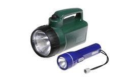 Lanternas elétricas isoladas Foto de Stock Royalty Free