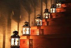 Lanternas em uma escadaria Fotografia de Stock