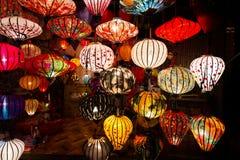 Lanternas Handcrafted na cidade antiga Hoi An Imagens de Stock