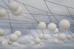 Lanternas na corda Fotos de Stock Royalty Free
