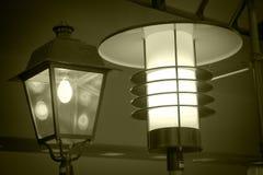 Lanternas para a iluminação da rua fotos de stock