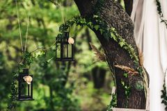 Lanternas pretas Foto de Stock Royalty Free