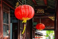 Lanternas tradicionais chinesas Foto de Stock Royalty Free
