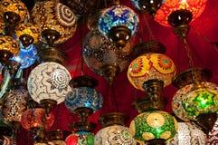 Lanternas turcas no bazar grande em Istambul, Turquia Imagem de Stock Royalty Free