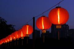 Lanternas vermelhas brilhantes fotografia de stock
