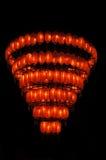 Lanternas vermelhas brilhantes imagem de stock royalty free
