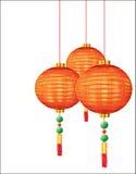 Lanternas vermelhas chinesas ilustração do vetor