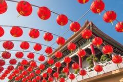 Lanternas vermelhas chinesas Foto de Stock