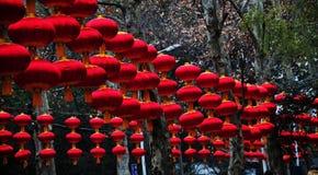 Lanternas vermelhas chinesas Fotografia de Stock