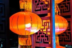Lanternas vermelhas chinesas bonitas fotos de stock royalty free