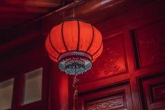 Lanternas vermelhas chinesas pelo ano novo chinês Duri chinês das lanternas fotografia de stock royalty free