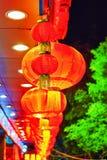 Lanternas vermelhas do chinês tradicional (bolas) fotografia de stock royalty free