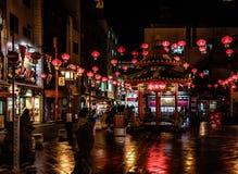 Lanternas vermelhas em Kobe foto de stock