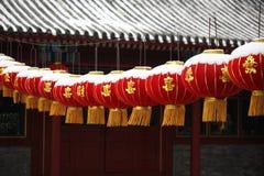Lanternas vermelhas grandes Imagens de Stock Royalty Free