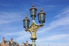 Lanterne électrique de vieille rue Photo libre de droits