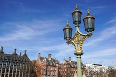 Lanterne électrique de vieille rue Photographie stock