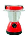 Lanterne électrique rouge sur le fond blanc Photographie stock