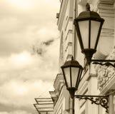 Lanterne antiche del gas Fotografie Stock