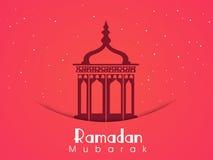 Lanterne arabe pour la célébration sainte de Ramadan Kareem de mois illustration de vecteur