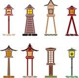 Lanterne asiatiche illustrazione vettoriale