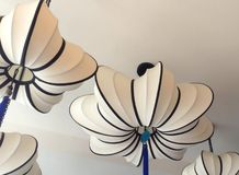 Lanterne blanche avec le tassle Image stock