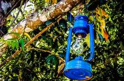 Lanterne bleue photos stock