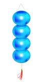 Lanterne bleue Photo stock