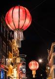 Lanterne in Chinatown, Londra Immagini Stock Libere da Diritti