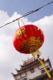 Lanterne chinoise dans le temple Images stock