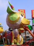 Lanterne chinoise de moutons de zodiaque photographie stock libre de droits