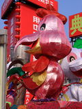 Lanterne chinoise de poulet de zodiaque photos libres de droits