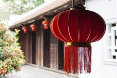 Lanterne chinoise rouge photo stock