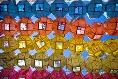 Lanterne cinesi colorate Fotografia Stock