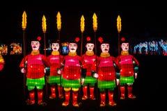 Lanterne cinesi dei guerrieri Fotografia Stock