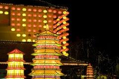 Lanterne cinesi di nuovo anno Fotografie Stock