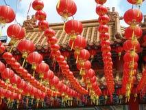Lanterne cinesi, Malesia fotografie stock libere da diritti
