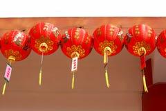 Lanterne cinesi nel giorno cinese dei nuovi anni Immagine Stock