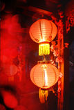 Lanterne cinesi, nuovo anno cinese Fotografie Stock