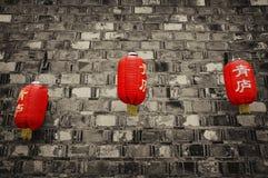 Lanterne cinesi rosse Immagine Stock