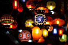 Lanterne cinesi rosse luminose, Tailandia, Sud-est asiatico Fotografia Stock