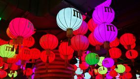 Lanterne cinesi a Shanghai Immagini Stock Libere da Diritti