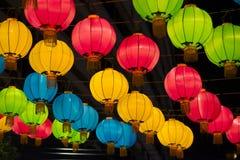 Lanterne cinesi variopinte Fotografie Stock Libere da Diritti