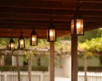 Lanterne coloniali fotografia stock