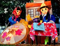 Lanterne colorée au festival de lanterne dans Taiwan Photos libres de droits