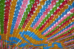 Lanterne Colourful nella fila Fotografia Stock Libera da Diritti